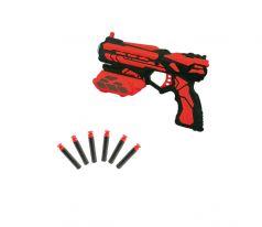 ABtoys Игрушечый бластер с 6 мягкими снарядами