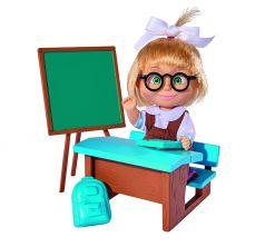 Simba Кукла Маша в школьной форме с классной доской, партой 12 см