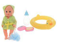 Bambolina Кукла интерактивная С кругом для плавания 30 см