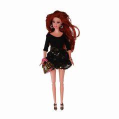 Yako Кукла Натали в черном платье с сумочкой