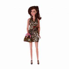 Yako Кукла Натали в леопардовом платье