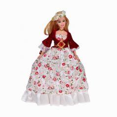Yako Кукла Софи в бордово-белом платье