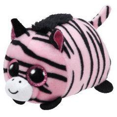 TY Мягкая игрушка Teeny Tys Зебра Pennie 11 см розовая