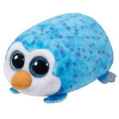 TY Мягкая игрушка Teeny Tys Пингвин Gus голубой 11 см