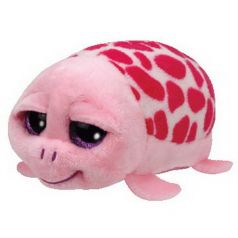TY Мягкая игрушка Teeny Tys Черепаха Shuffler розовая 11 см