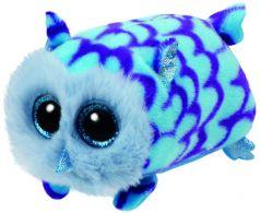 TY Мягкая игрушка Teeny Tys Совенок голубой Mimi 10 см