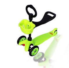 Explore Самокат 3-х колесный Saddler с сидением зеленый