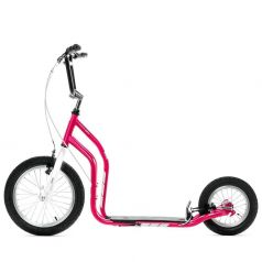 Yedoo Самокат 2-х колесный City New розовый/белый
