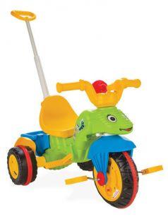 Pilsan Трехколесный велосипед Tirtil с родительской ручкой желто-зеленый