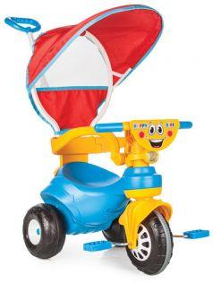 Pilsan Велосипед 3-х колесный Happy с родительской ручкой сине-желтый