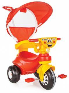 Pilsan Трехколесный велосипед Happy с родительской ручкой красно-желтый