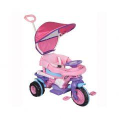 Pilsan Трехколесный велосипед Maxi с родительской ручкой розово-фиолетовый