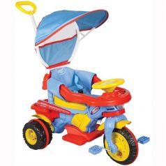 Pilsan Трехколесный велосипед Maxi с родительской ручкой красно-синий
