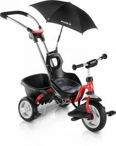 Puky Трехколесный велосипед CAT S2 Ceety с ручкой red красный