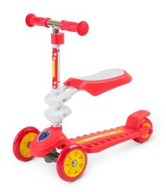Small Rider Самокат 3-х колесный Cosmic Zoo Galaxy Seat с сиденьем (красный)