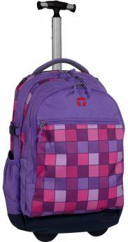 Take It Easy Рюкзак на колесах с телескопической ручкой Барселона Миссия (фиолетовый)