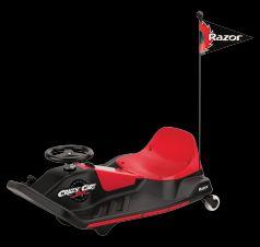 Razor Электромобиль Crazy Cart Shift (красно-черный)