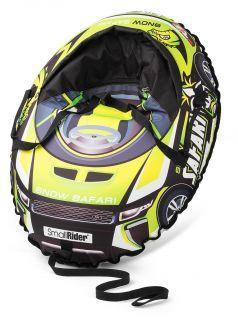 Small Rider Тюбинг Snow Cars 3 с сиденьем и ремнями Сафари зеленый
