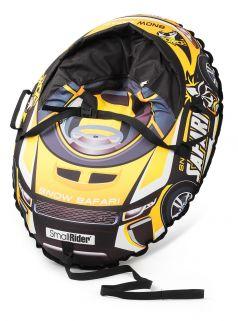 Small Rider Тюбинг Snow Cars 3 с сиденьем и ремнями Сафари желтый