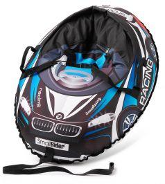 Small Rider Тюбинг Snow Cars 3 с сиденьем и ремнями ВМ черно-синий
