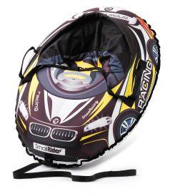 Small Rider Тюбинг Snow Cars 3 с сиденьем и ремнями ВМ черно-желтый