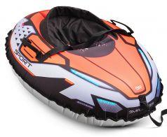 Small Rider Детский тюбинг Asteroid Sport с сиденьем и ремнями оранжевый