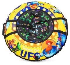Small Rider Тюбинг-ватрушка Cosmic Zoo UFO, капитан Клюква желтый
