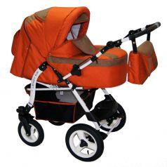 Babyhit Коляска-трансформер Lendy Air (оранжевый лён, коричневая вставка