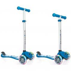 Globber Самокат 3-х колесный PRIMO Fantasy с 3 светящимися колесами Smiling Sky blue
