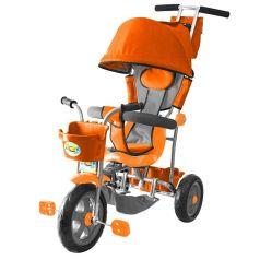 Galaxy Велосипед Лучик 3-х колесный с капюшоном (оранжевый)