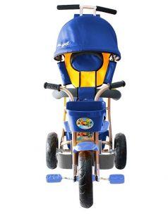 Galaxy Велосипед Лучик 3-х колесный с капюшоном (синий)