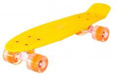 RT Скейтборд Classic 26 со светящимися колесами оранжевый
