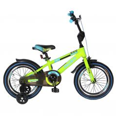 "Velolider Велосипед 2-х колесный 16"" RUSH SPORT зеленый"
