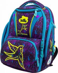 DeLune Ранец школьный 8-104 с мешком для обуви (фиолетовый)