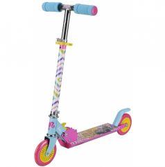 1Toy Самокат 2-х колесный со складным рулем Barbie