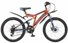 Stinger Велосипед 24 Highlander 100D 16,5 оранжевый