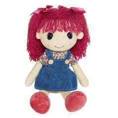 MaxiToys Кукла мягконабивная Стильняшка с малиновыми волосами 40 см