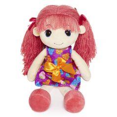 MaxiToys Кукла мягконабивная Стильняшка с розовыми волосами 40 см
