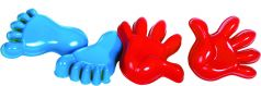 Gowi Игрушки для песочницы Ручки и ножки (формочки и совочек)