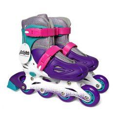 Moby Kids Детские роликовые коньки (фиолетовые)