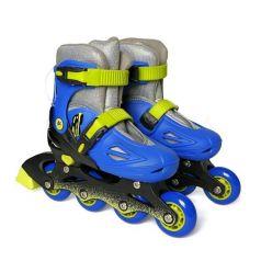 Moby Kids Детские роликовые коньки (сине-зеленые)