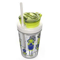 Contigo Стакан для воды Snack Tumbler 0,35 литра с трубочкой зеленый