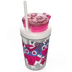Contigo Стакан для воды Snack Tumbler 0,35 литра с трубочкой розовый