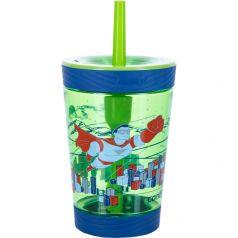 Contigo Стакан для воды Spill Proof Tumbler 0,42 литра с трубочкой зеленый