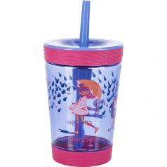 Contigo Стакан для воды Spill Proof Tumbler 0,42 литра с трубочкой розовый