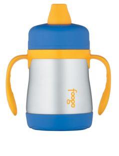Thermos Поильник Foogo Phases №1 с ручками 0,2 литра голубой