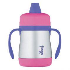 Thermos Поильник Foogo Phases №1 с ручками 0,2 литра розовый