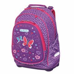 Herlitz Рюкзак школьный Bliss Purple Butterfly без наполнения