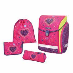 Herlitz Ранец школьный Midi Plus Pink Hearts с наполнением
