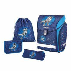 Herlitz Ранец школьный Midi Plus Blue Dino с наполнением